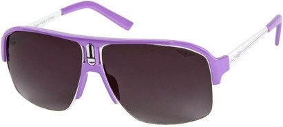 Angle of SW Neon Aviator #8909 in Purple Frame with Smoke Lenses, Women's and Men's