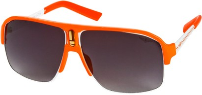 Angle of SW Neon Aviator #8909 in Neon Orange Frame with Smoke Lenses, Women's and Men's