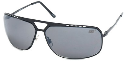 Angle of SW Aviator Style #68044 in Black Frame, Women's and Men's