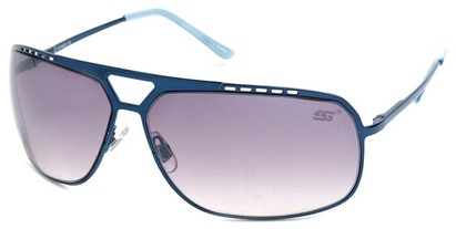 Angle of SW Aviator Style #68044 in Blue Frame, Women's and Men's