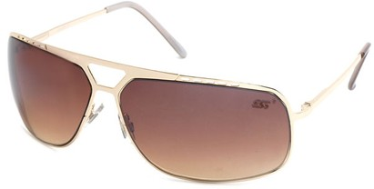 Angle of SW Aviator Style #68044 in Gold Frame, Women's and Men's