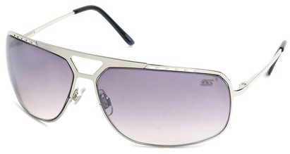 Angle of SW Aviator Style #68044 in Silver Frame, Women's and Men's