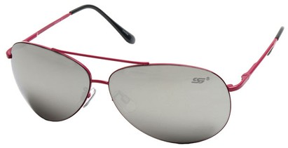 Angle of SW Aviator Style #8018 in Dark Pink Frame with Mirrored Lenses, Women's and Men's