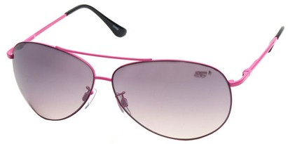 Angle of SW Aviator Style #8018 in Pink Frame with Smoke Lenses, Women's and Men's