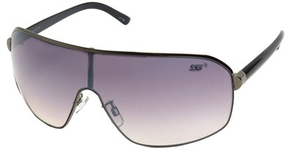 Angle of SW Shield Style #8022 in Grey Frame, Women's and Men's