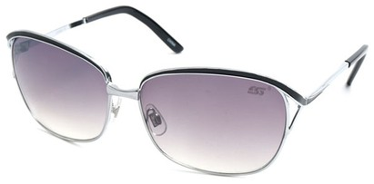 Angle of SW Hollywood Style #108 in Silver and Black Frame, Women's and Men's