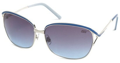 Angle of SW Hollywood Style #108 in Silver and Blue Frame, Women's and Men's