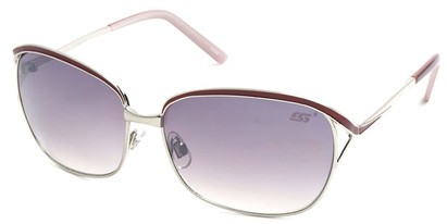 Angle of SW Hollywood Style #108 in Silver and Red Frame, Women's and Men's