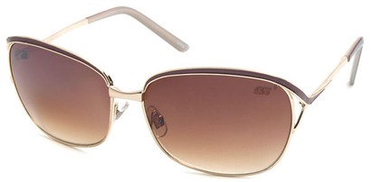 Angle of SW Hollywood Style #108 in Gold and Brown Frame, Women's and Men's