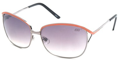 Angle of SW Hollywood Style #108 in Silver and Orange Frame, Women's and Men's