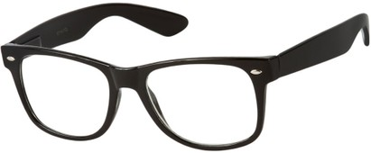 Angle of Ross #2905 in Black Frame with Clear Lenses, Women's and Men's Retro Square Fake Glasses