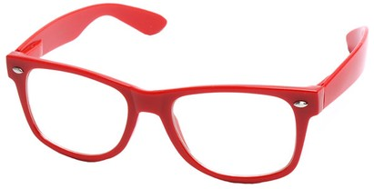 Angle of Ross #2905 in Red Frame with Clear Lenses, Women's and Men's Retro Square Fake Glasses