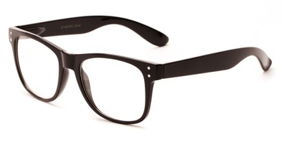 Angle of Bass #14611 in Black Frame, Women's and Men's Retro Square Sunglasses