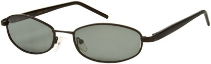 Angle of SW Polarized Style #1592 in Matte Black Frame, Women's and Men's