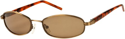 Angle of SW Polarized Style #1592 in Matte Bronze/Brown Tortoise Frame, Women's and Men's