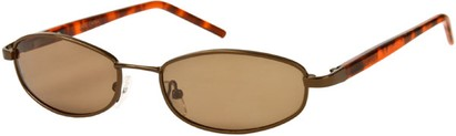 Angle of SW Polarized Style #1592 in Glossy Bronze/Brown Tortoise Frame, Women's and Men's