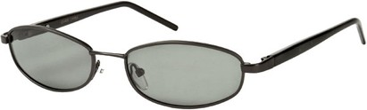 Angle of SW Polarized Style #1592 in Glossy Grey/Black Frame, Women's and Men's