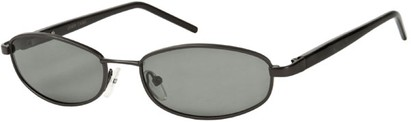 Angle of SW Polarized Style #1592 in Matte Grey/Black Frame, Women's and Men's