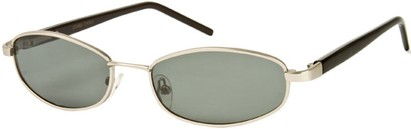 Angle of SW Polarized Style #1592 in Matte Silver/Black Frame , Women's and Men's