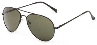 Angle of Gunnar #1212 in Black Frame with Green Lenses, Women's and Men's Aviator Sunglasses