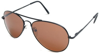 Angle of Crossroads #31096 in Black Frame with Copper Lenses, Women's and Men's Aviator Sunglasses