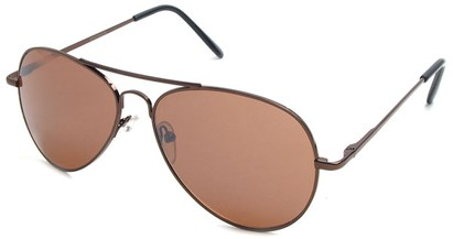 Angle of Crossroads #31096 in Bronze Frame with Copper Lenses, Women's and Men's Aviator Sunglasses