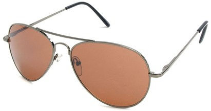 Angle of Crossroads #31096 in Grey Frame with Copper Lenses, Women's and Men's Aviator Sunglasses