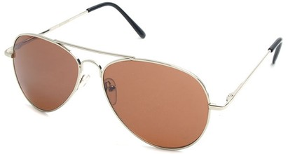 Angle of Crossroads #31096 in Silver Frame with Copper Lenses, Women's and Men's Aviator Sunglasses