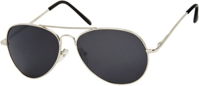Angle of Gunnar #1212 in Silver Frame with Dark Grey Lenses, Women's and Men's Aviator Sunglasses