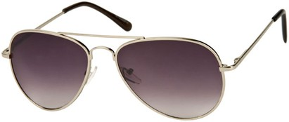 Angle of Gunnar #1212 in Silver Frame with Rose Lenses, Women's and Men's Aviator Sunglasses