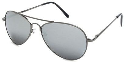 Angle of Bering #5404 in Grey Frame with Silver Mirrored Lenses, Women's and Men's Aviator Sunglasses