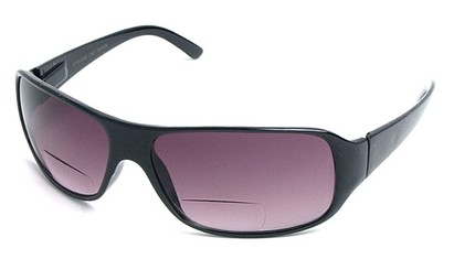 Angle of Spencer #7975 in Black, Women's and Men's Square Reading Sunglasses