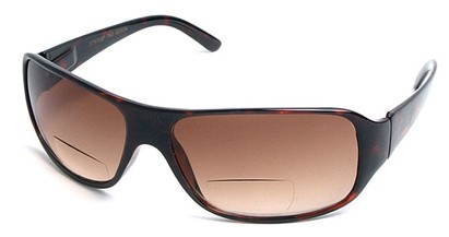 Angle of Spencer #7975 in Tortoise, Women's and Men's Square Reading Sunglasses