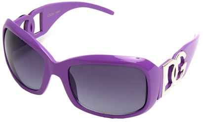Angle of SW Oversized Style #26164 in Light Purple Frame, Women's and Men's