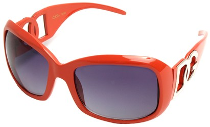 Angle of SW Oversized Style #26164 in Orange Frame, Women's and Men's
