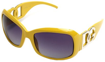 Angle of SW Oversized Style #26164 in Yellow Frame, Women's and Men's