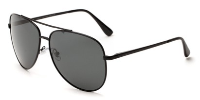 Angle of Safari #1376 in Black Frame with Grey Lenses, Men's Aviator Sunglasses