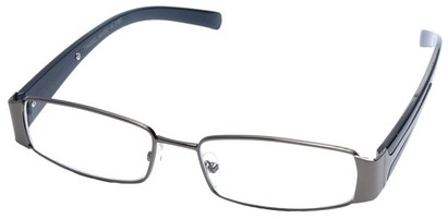 Angle of SW Clear Style #2903 in Grey and Black Frame, Women's and Men's