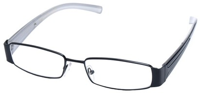 Angle of SW Clear Style #2903 in Black and White Frame, Women's and Men's