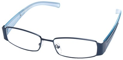 Angle of SW Clear Style #2903 in Blue Frame, Women's and Men's