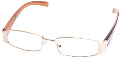 Angle of SW Clear Style #2903 in Gold and Brown Frame, Women's and Men's