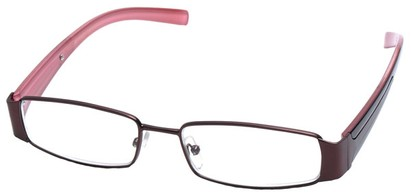 Angle of SW Clear Style #2903 in Bronze and Pink Frame, Women's and Men's