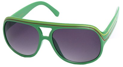 Angle of SW Rasta Style #1964 in Green Frame, Women's and Men's