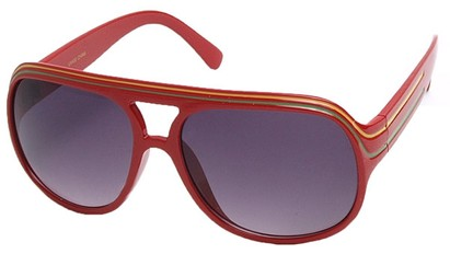 Angle of SW Rasta Style #1964 in Red Frame, Women's and Men's