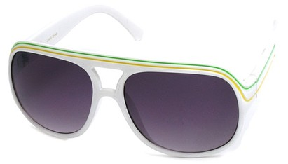 Angle of SW Rasta Style #1964 in White Frame, Women's and Men's