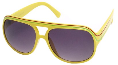 Angle of SW Rasta Style #1964 in Yellow Frame, Women's and Men's
