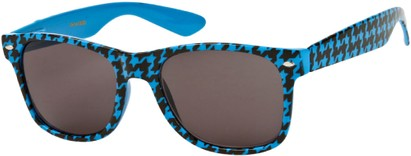 Angle of SW Retro Houndstooth Style #8904 in Blue Frame, Women's and Men's