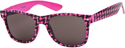 Angle of SW Retro Houndstooth Style #8904 in Hot Pink Frame, Women's and Men's
