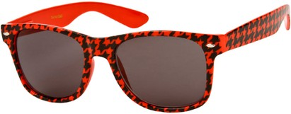 Angle of SW Retro Houndstooth Style #8904 in Red Frame, Women's and Men's