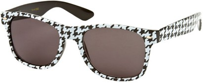 Angle of SW Retro Houndstooth Style #8904 in Black/White Frame, Women's and Men's
